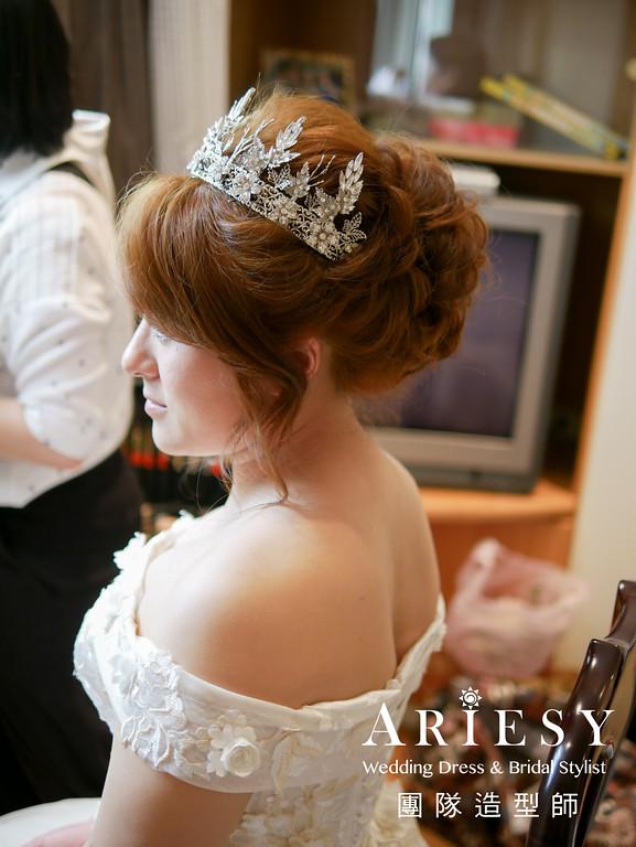 自然新娘妝,新秘編髮,白紗進場造型,新秘推薦,新娘髮型