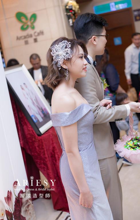 台北新祕,新娘秘書,新娘造型,新娘編髮,送客造型,清透妝感,新娘髮型,時尚造型,推薦新秘,短髮新娘