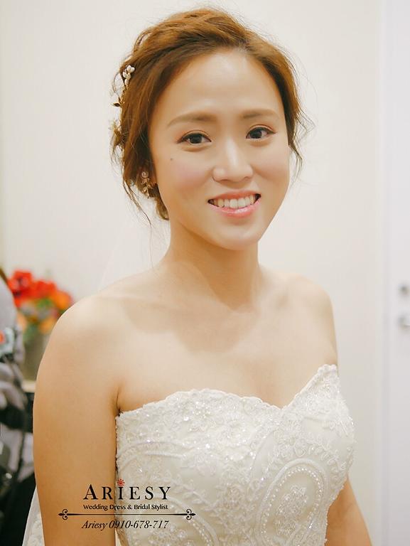 新娘髮型,新秘,台北新娘秘書,歐美風新娘,小麥膚色新娘,白紗造型