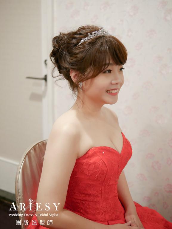 進場髮型,新娘髮型,新娘皇冠造型,清透自然妝感,新娘編髮