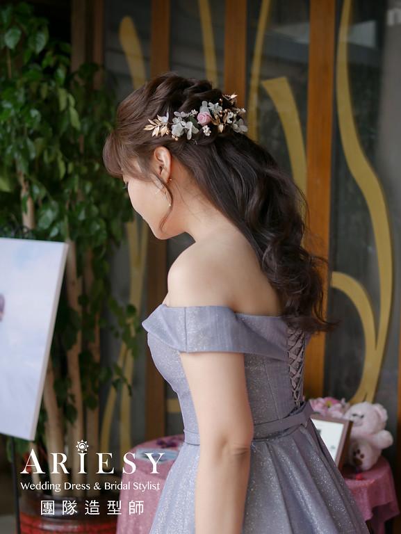 敬酒造型,新秘推薦,新娘公主頭造型,新秘花藝,新娘花藝造型