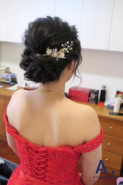 台北新祕,文定造型,新娘髮型,黑髮新娘造型,蓬鬆編髮