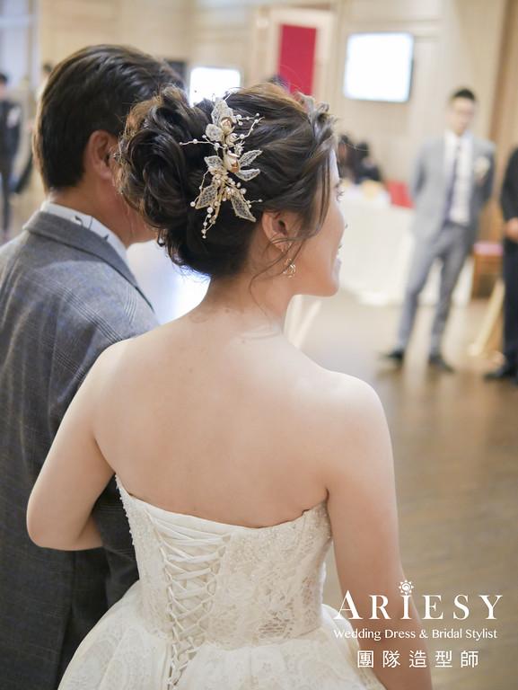白紗進場髮型,新娘編髮造型,推薦新秘,新娘妝,新娘髮型