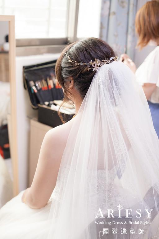 迎娶造型,白紗造型,新娘編髮,新娘妝,新娘手工飾品