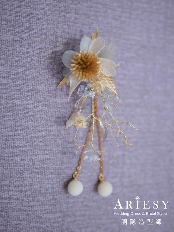 花耳環,新秘花藝,新娘秘書,新秘推薦,新娘鮮花造型
