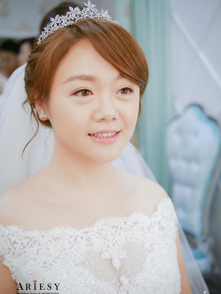 白紗造型,自然妝感新秘,新秘推薦,新娘髮型,編髮造型