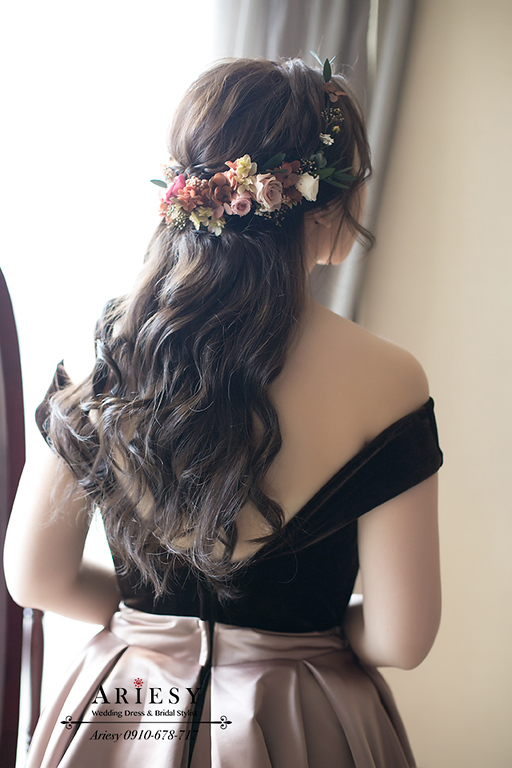 晶華酒店婚禮,韓風新娘,愛瑞思,新娘秘書,新秘,乾燥花色系新娘