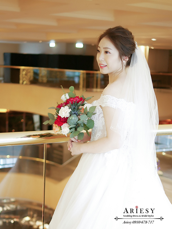 晶華酒店婚禮,韓風新娘,愛瑞思,新娘秘書,新秘,白紗髮型