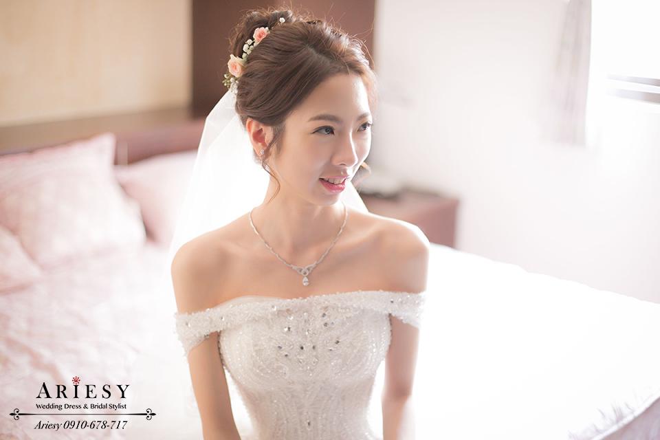 白紗造型、鮮花編髮、韓風髮型、新娘髮型、韓式新秘