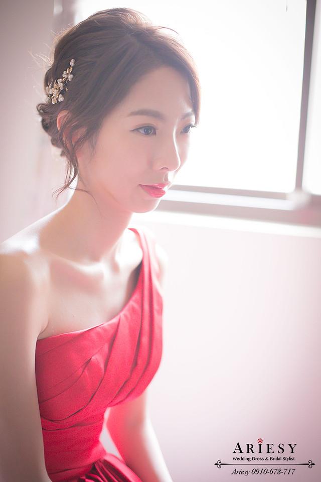 新娘秘書推薦、鮮花編髮、韓風髮型、新娘髮型、台北新秘