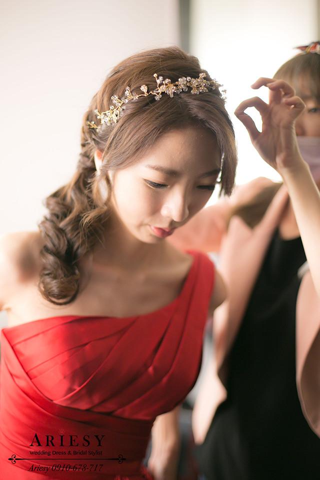 送客造型、鮮花編髮、韓風髮型、新娘髮型、台北新秘