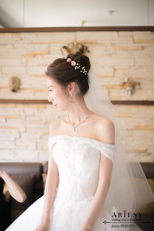 白紗造型、鮮花編髮、韓風髮型、新娘髮型、台北新秘