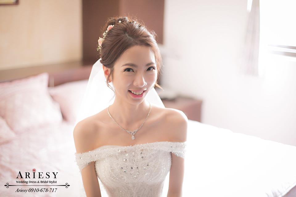 白紗造型、鮮花編髮、韓風髮型、新娘髮型、韓風新秘