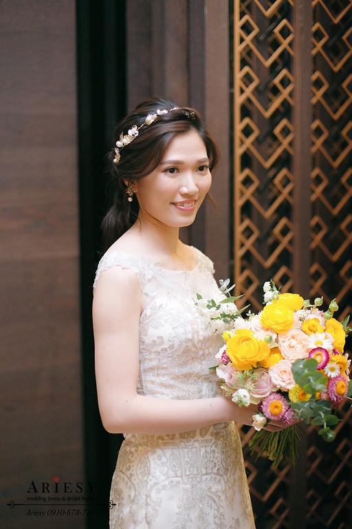 編髮造型,新娘髮型,自然妝感,新娘妝,愛瑞思,吉品海鮮