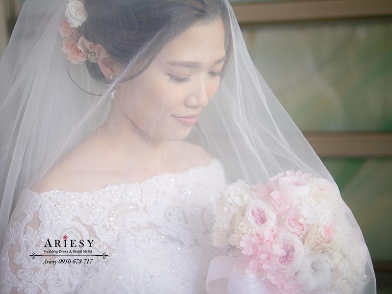 教堂婚禮,白紗造型,新娘造型,SUQQU 04 絢撫子,鮮花新秘,愛瑞思,康寧教會