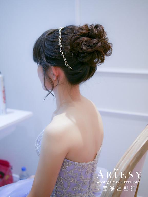 送客造型,新娘髮型,新娘公主風格,新娘妝,新娘秘書推薦