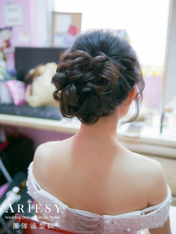 迎娶造型,編髮造型,黑髮新娘,新娘秘書,新秘黑髮