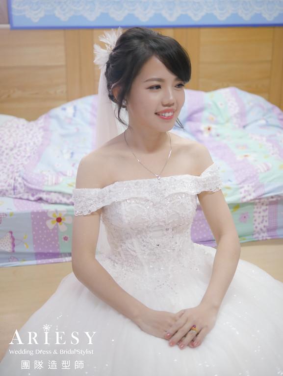 白紗進場髮型,黑髮新娘,新娘髮型,新娘妝,編髮造型