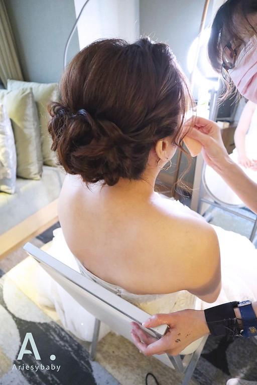 Ariesybabay造型團隊,新娘秘書,新娘造型,白紗造型,盤髮造型