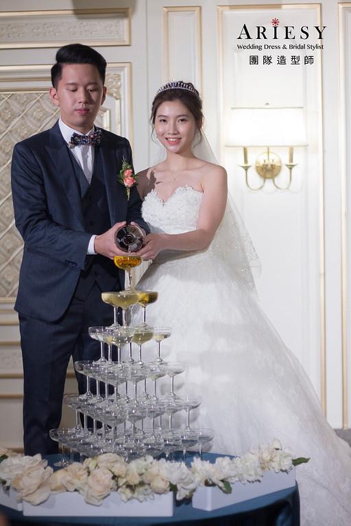 新秘,新娘秘書,台北新秘,翡麗詩莊園婚宴,戶外證婚造型