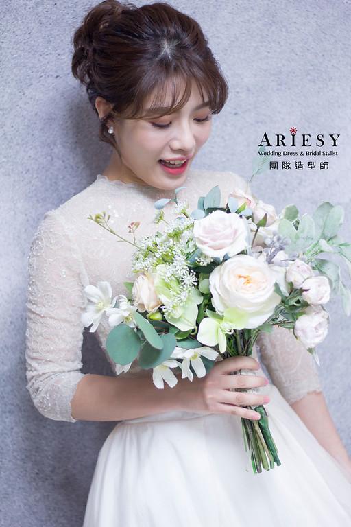 新秘,韓系新娘妝感,新娘秘書,台北新秘,短髮造型