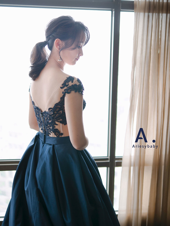 ariesybaby造型團隊,台北新祕,新娘秘書,新娘髮型,黑髮新娘造型,愛瑞思品牌訂製手工婚紗