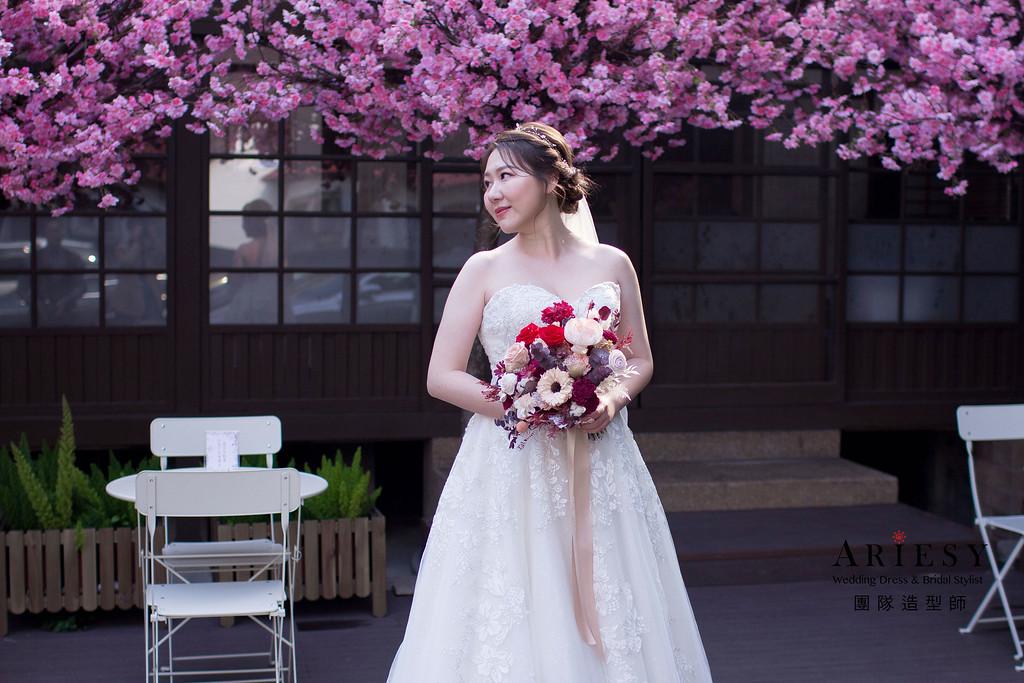 戶外證婚新娘造型,新娘妝感,新秘推薦,台北新秘,新秘