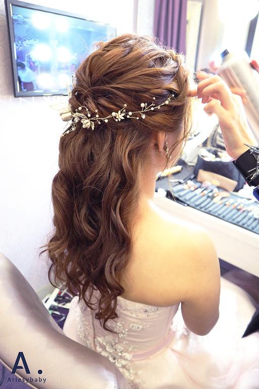 Ariesybaby 團隊,新娘祕書,新娘造型,側邊髮造型,白紗造型