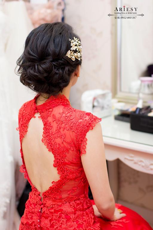 Ariesy造型團隊,歐美新秘,台北新娘秘書,短髮新娘造型,低盤髮