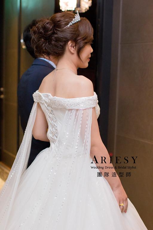Ariesy造型團隊,編髮馬尾,鮮花造型,白紗髮型,紅禮服造型
