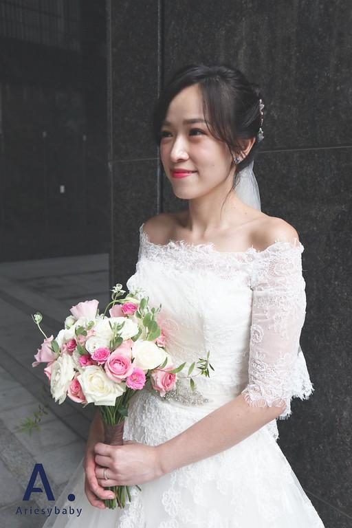 Ariesybaby造型團隊,迎娶新娘造型,新祕,新娘祕書,黑髮新娘