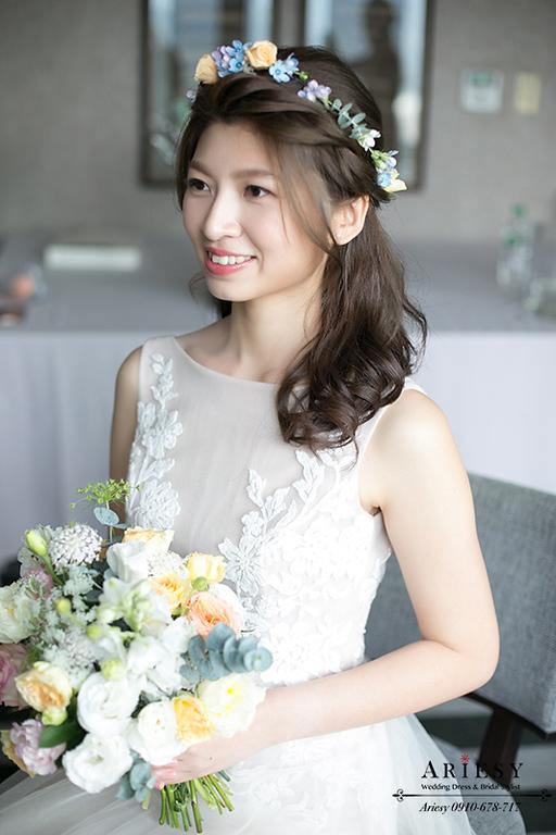 森林系造型,愛瑞思捧花,新娘秘書,ariesy,台北歐美風新秘,鮮花新秘,鮮花新娘秘書