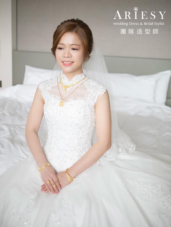 新娘秘書、花藝新娘造型、短髮新娘造型、台北新秘、新秘推薦