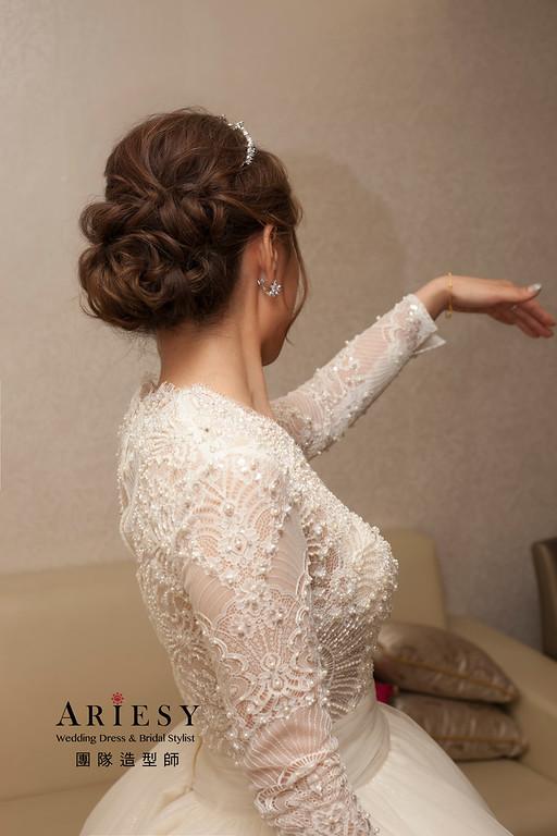 白紗造型,編髮新娘造型,新娘秘書,自然妝感,新娘髮型