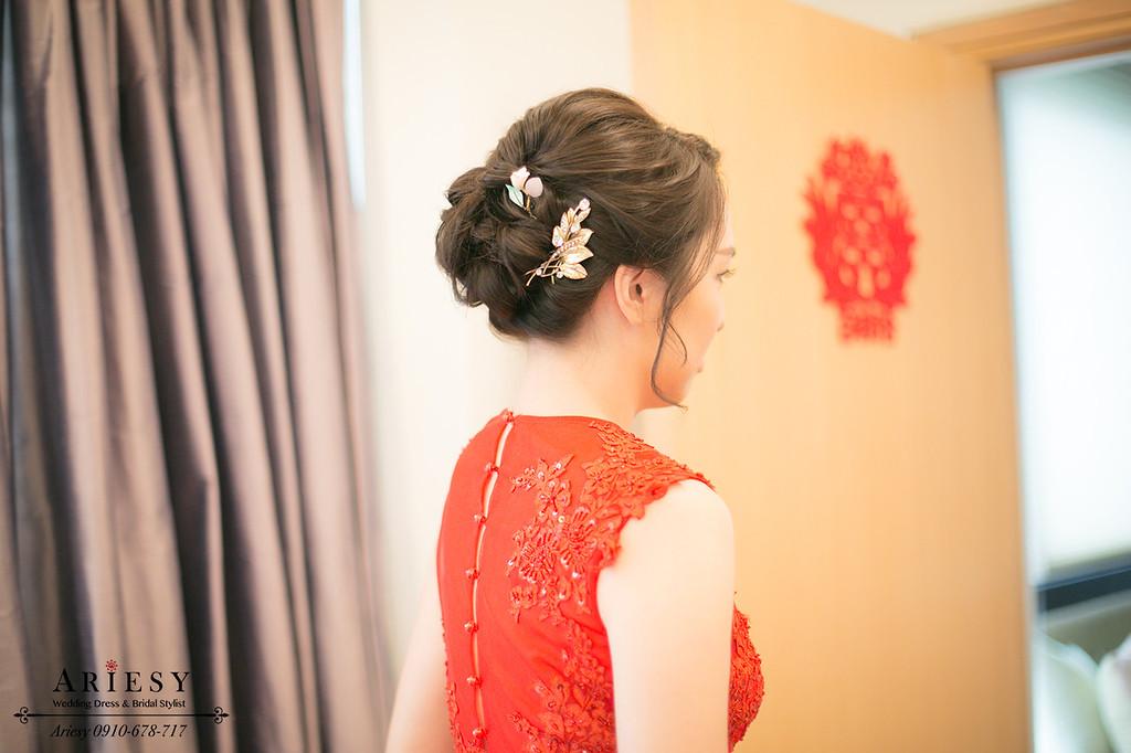 台南新秘,新秘推薦,新娘造型,文定造型,新娘盤髮