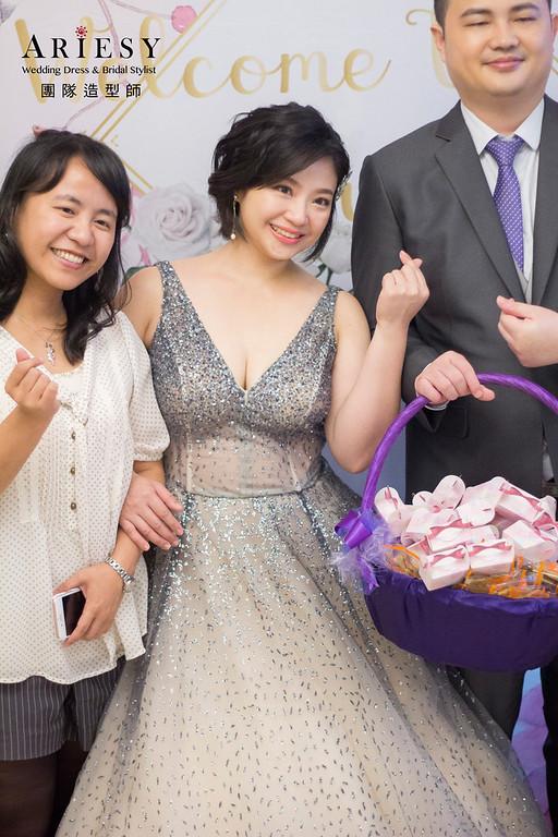 新秘,新娘秘書,台北新秘,基隆新秘,短髮黑髮造型