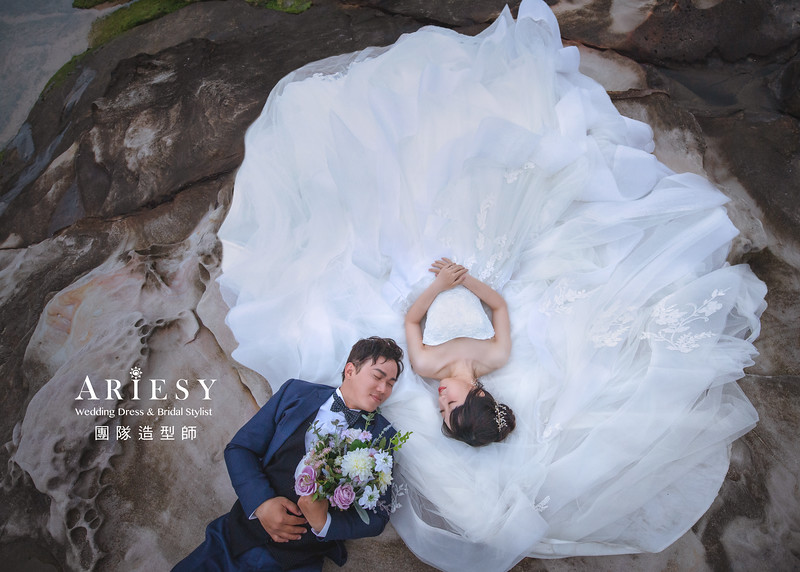 婚紗攝影,婚紗造型,白紗造型,新娘造型,婚紗包套,攝影大青蛙,新祕Hanya,新娘秘書,愛瑞思品牌訂製手工婚紗,新娘髮型