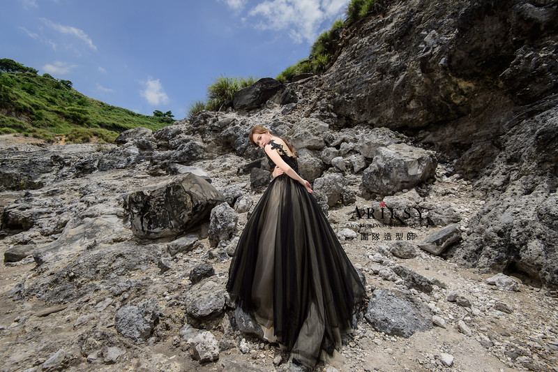 婚紗包套,新娘造型,新娘髮型,蓬鬆編髮,馬尾造型,自然清透感妝