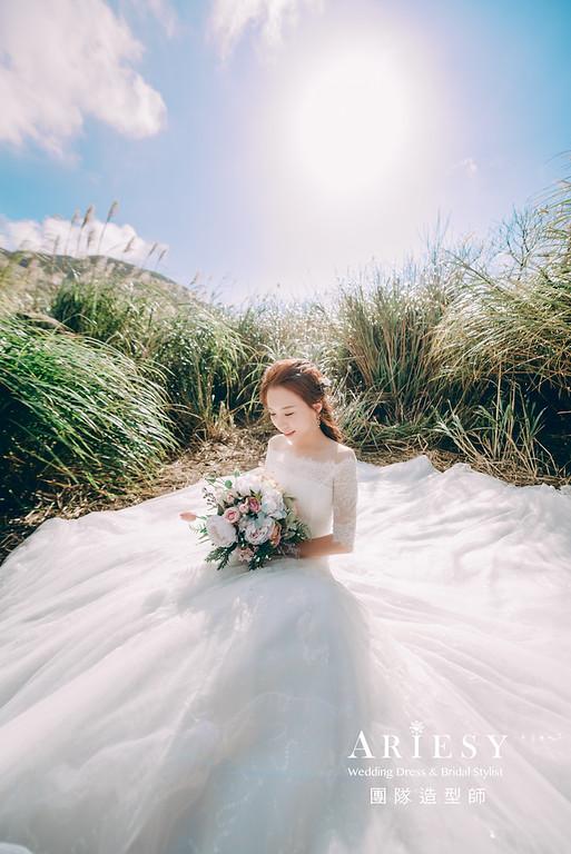 婚紗攝影,婚紗造型,陽明山婚紗,白紗造型,婚紗包套,攝影大嘴,新祕Hanya,新娘秘書,愛瑞思品牌訂製手工婚紗