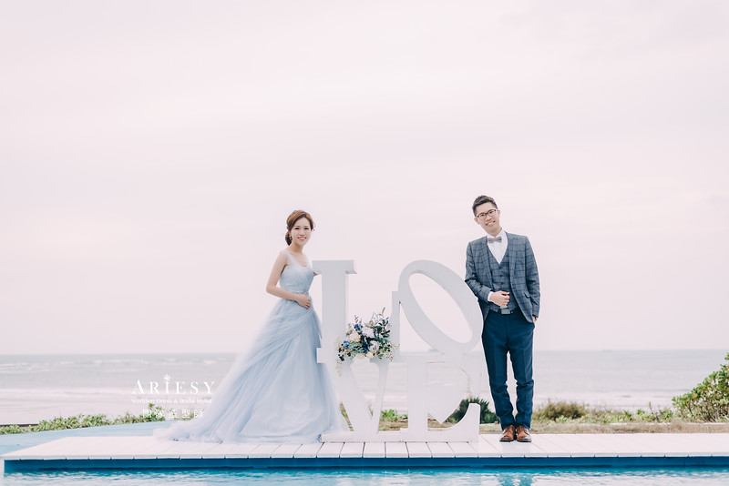 婚紗攝影,婚紗造型,自助婚紗,馬尾造型,婚紗包套,攝影大嘴,新祕Hanya,新娘秘書,愛瑞思品牌訂製手工婚紗,新娘造型