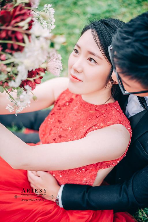 新莊婚紗攝影,河濱公園婚紗照,韓風外拍新娘造型,ARIESY婚紗禮服,婚攝大嘴婚紗攝影包套,韓風黑髮新娘髮型