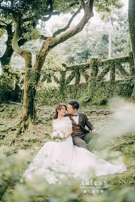 婚紗包套,新娘造型,新娘髮型,蓬鬆編髮,白紗造型,自然清透感妝,攝影師大嘴,新娘秘書