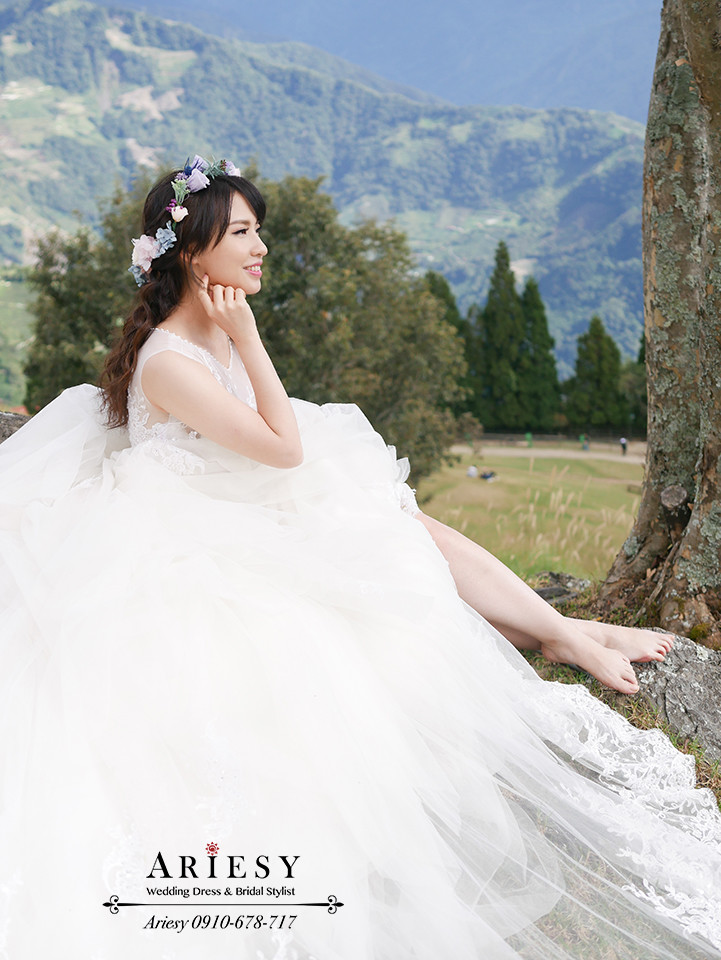 花圈造型,鮮花造型,婚紗拍攝,婚紗攝影,婚紗造型,ariesy,青青草原