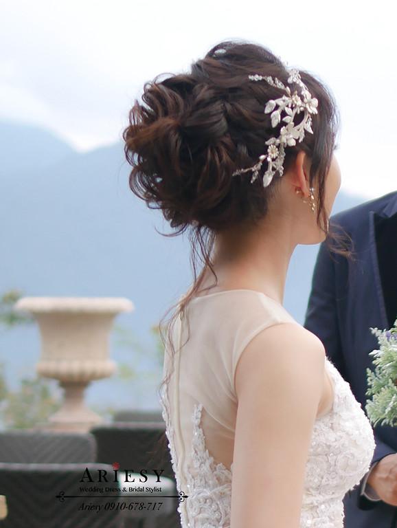 歐美盤髮,髮量少新娘造型,老英格蘭,新娘髮型,婚紗拍攝