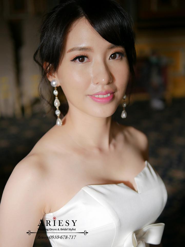 歐美盤髮,單眼皮新娘,髮量少新娘造型,老英格蘭,新娘髮型,婚紗拍攝
