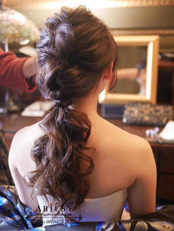 低馬尾,婚紗造型,老英格蘭婚紗,婚紗新秘,愛瑞思