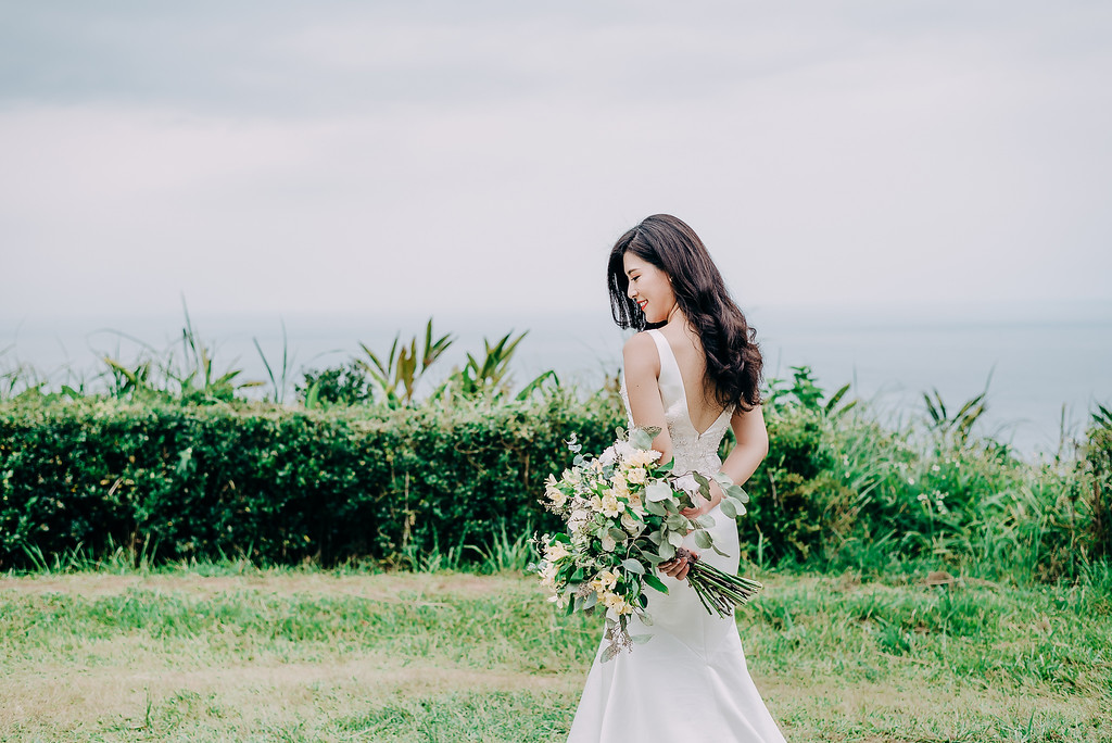 新娘秘書,新秘造型,自助婚紗,美式婚紗,鮮花捧花