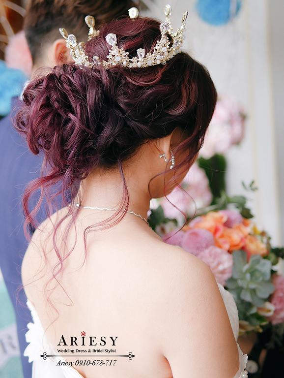 皇冠造型,新娘造型,愛瑞思,戶外婚禮,青青婚宴