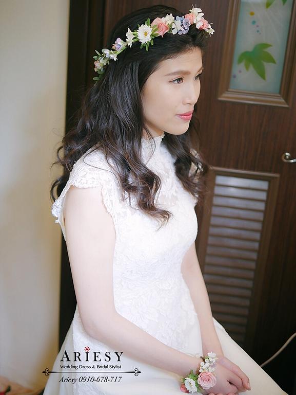 骨董白紗,歐美風新娘,戶外婚禮,新娘捧花,美式婚禮,新娘造型