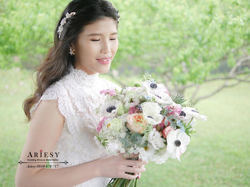 骨董白紗,歐美風新娘,戶外婚禮,新娘捧花,美式婚禮,新娘秘書